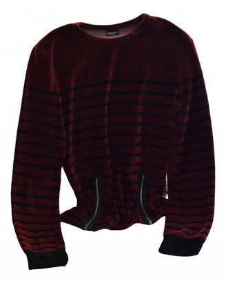 Jean Paul Gaultier Burgundy Cotton Knitwear