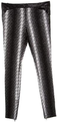 Gucci Metallic Argyle Patterned Lurex Knit Skinny Pants S