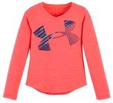 Under Armour Girls' Toddler UA Wordmark Script Cropped Logo Long Sleeve