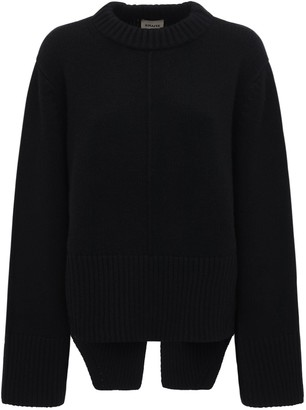 KHAITE Virginia Heavy Cashmere Knit Sweater