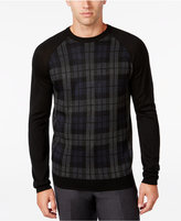 Ryan Seacrest Distinction Men's Plaid-Front Sweater, Only at Macy's