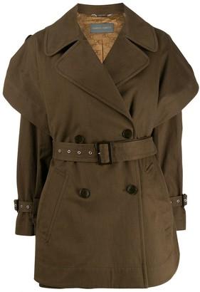 Alberta Ferretti short trench coat