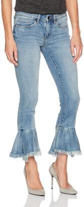 Blank NYC Women's Ruffle Hem Skinny Jean