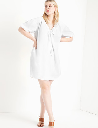 ELOQUII Cinched Neckline Dress