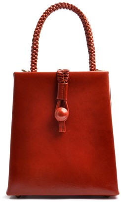 Ostwald Finest Couture Bags Fleur Top Handle In Reddish Brown