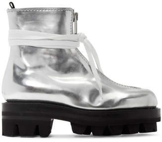 Alyx Silver Tank Boots