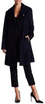 Ellen Tracy Front Button Wool Blend Coat