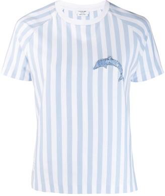 Thom Browne dolphin motif striped T-shirt
