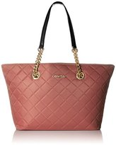 Calvin Klein 2 DX Quilted Nylon Tote Shoulder Bag