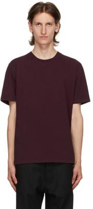 Maison Margiela Burgundy Jersey T-Shirt
