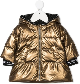 Givenchy Kids Metallic Padded Jacket