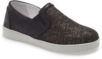 David Tate Valentina Metallic Slip-On Sneaker