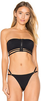 Alexander Wang Cage Bandeau Swim Top in Black. - size L (also in M)