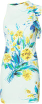 Black Halo scuba sleeveless flower print dress - women - Polyamide/Spandex/Elastane - 2