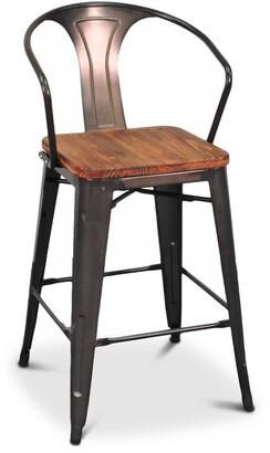 Apt2B Grand Metal Counter Chair GUNMETAL - SET OF 4