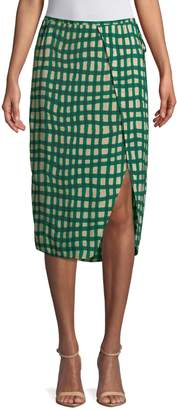 Plenty by Tracy Reese Printed Surplice Skirt