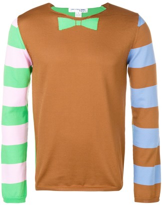 Comme Des Garçons Shirt Boys Striped Sleeve Sweater