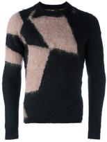 Kolor brushed intarsia jumper - men - Mohair/Wool/Alpaca - 1
