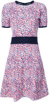 Carolina Herrera impressionist dot skater dress - women - Virgin Wool - S