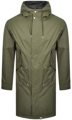 Pretty Green Whiteley Hooded Parka Jacket Green