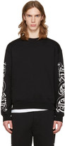 McQ by Alexander McQueen Black Oversized Logo Pullover