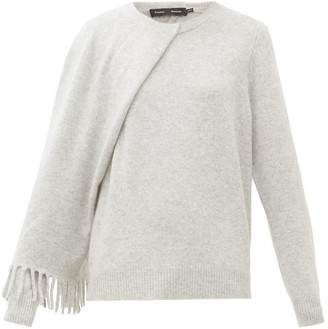 Proenza Schouler Draped Cashmere Sweater - Womens - Light Grey