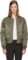 Rag & Bone Green Nylon Morton Bomber Jacket