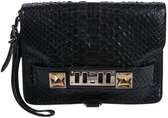 Proenza Schouler PS1 Black Python Clutch bags