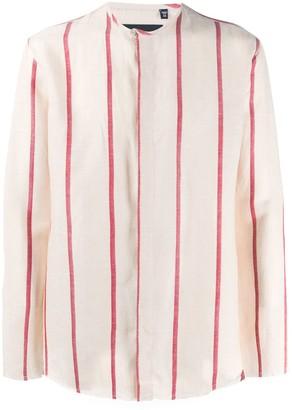 Costumein Striped Collarless Shirt