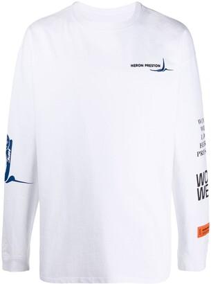 Heron Preston Embroidered-Logo Sweatshirt