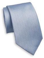 Saint Laurent Neat Triangle Patterned Silk Tie
