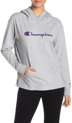 Champion Logo Hoodie Pullover Sweater