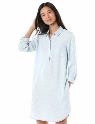 Goodthreads Amazon Brand Women's Tencel Popover Shirt Dress