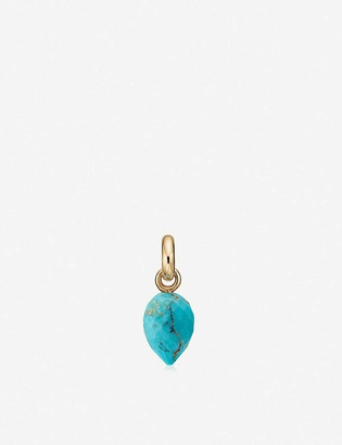 Monica Vinader Fifi 18ct gold-plated vermeil and turquoise pendant charm