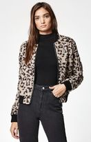 Obey Karina Leopard Print Bomber Jacket