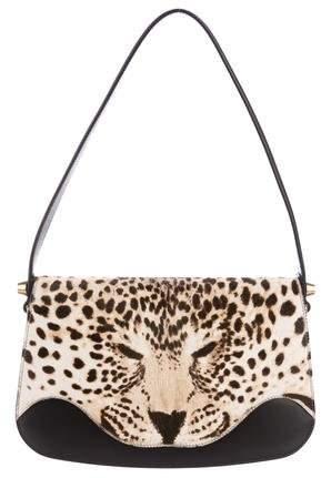 Gucci 2017 Ponyhair Leopard Shoulder Bag