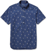 Polo Ralph Lauren Button-Down Collar Printed Cotton Polo Shirt