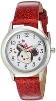 Disney Girl's 'Tsum' Quartz Stainless Steel Casual Watch, Color:Red (Model: WDS000122)