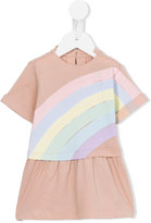 Stella McCartney rainbow print Jess dress - kids - Cotton - 12 mth