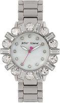 Betsey Johnson Women's Silver-Tone Bracelet Watch 38mm BJ00612-01