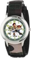 """Disney Kids' W000065 Toy Story 3 """"Buzz Lightyear, Woody and Jessie"""" Stainless Steel Time Teacher Watch"""