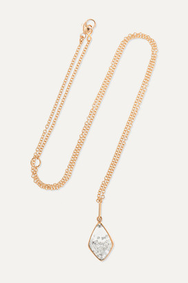 Moritz Glik 18-karat Rose Gold, Sapphire Crystal And Diamond Necklace