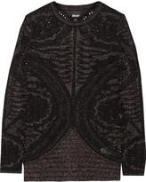 Just Cavalli Metallic stretch-knit sweater