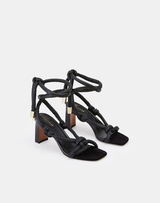 Lafayette 148 New York Leather Delphine Ankle Wrap Sandal