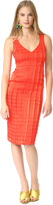 Diane von Furstenberg Sleeveless V Neck Tailored Midi Dress