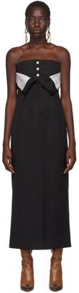 Acne Studios Black Strapless Tuxedo Dress