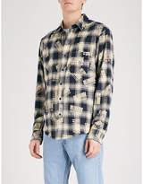 Billionaire Boys Club Logo-print checked regular-fit cotton-flannel shirt