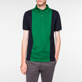Paul Smith Men's Green And Navy Piece-Constructed Polo Shirt