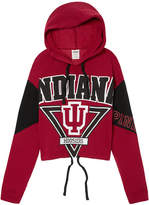Victoria's Secret Victorias Secret Indiana University Cropped Cinched Hem Hoodie