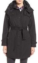 London Fog Petite Women's Single Breasted Trench Coat